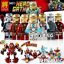 Super Heroes Iron Man MARK 26 8 In 1 Bricks Assemble Action Building Blocks Toys