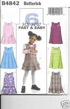 4842 TODDLERS/GIRLS JUMPERS   SIZE  1-3 NEW BUTTERICK SEWING PATTERN 4842