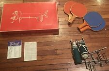 Vintage Mid Cent Table Tennis Set Sportcraft  Ping Pong Set! No Balls