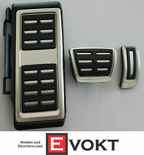 Audi A3 8V Stainless Steel Pedal Caps Set Automatic Footrest 2013-2015 Genuine