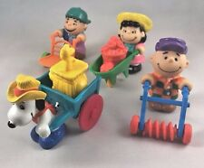 McDonalds Happy Meal Toys 1989 Peanuts Farm Charlie Brown Snoopy Lucy Linus P10