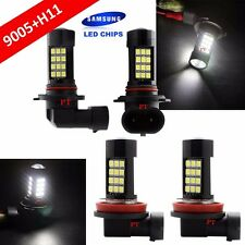 Combo Set H11 9005-HB3 Samsung LED 42-SMD White Headlight Lamp Bulb Hi/Lo Beam
