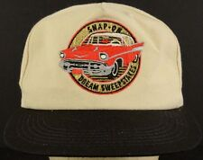 Snap On Dream Sweepstakes Tan Black Baseball Hat Cap with Snapback Strap