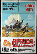 AFRICA EXPRESS TEXAS STYLE Hugh O'Brian John Mills One Sheet Movie poster
