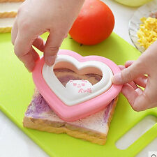 1Pc Heart Shape Bread Sandwich Toast Mold PP Baking Moulds Random Kitchen Tool