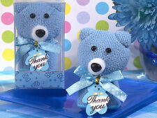 60 Pink or Blue Teddy Bear towel favor  baby Shower Favor Party Favors