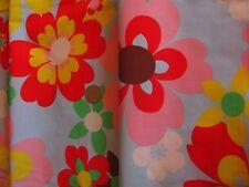 Cath Kidston 1m 100cm QUADRATO Pop grandi fiori in tessuto leggero Blu Nuovo