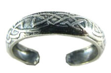 Celtic Pattern Toe Ring Sterling Silver 925 Best Deal Plain Jewelry USA Seller