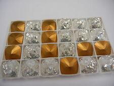4 swarovski fancy stones in 20mm crystal/foiled #4470