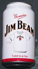 Jim Beam Mens White Printed Short Sleeve T Shirt In A Can Size XL New