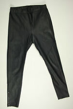 EUC-AS NEW- RRP $299- Womens 'DIVIDED' by H&M Black Faux Leather Leggings Pants