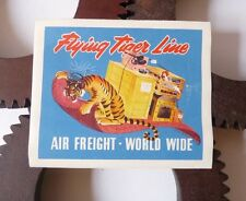 Etiquette Bagage Flying Tiger Line Airlines Luggage Labels 1950