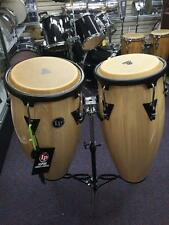 LP Aspire Conga Drum Set-LPA 647 Natural Wood with Stand-New Store Display!