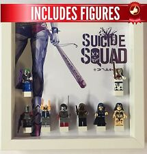 Lego Frame Suicide Squad custom minifigure Display Case Picture + Figures