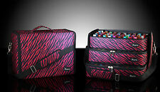 BBeautylounge Bottle bag Red & Black Zebra Nail polish carry case Mobile Beauty
