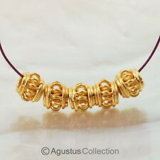 5 pieces 24K Gold Vermeil over 925 Sterling SILVER BEADS 0.78 g Bali 4.60mm