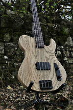 "Manton Customs Natural ECHO MK II 32"" SCALA BASS GUITAR TELECASTER TELE da liutaio"