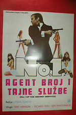 NO.1 OF THE SECRET SERVICE 1977  NICKY HENSON RICHARD TODD EXYU MOVIE POSTER