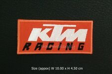 KTM racing embroidered sew iron on patch motorcycles racing motor sport logo DIY