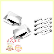 FOR 2006-2010 FORD EXPLORER CHROME SIDE MIRROR + DOOR HANDLE COVERS COMBO DEAL