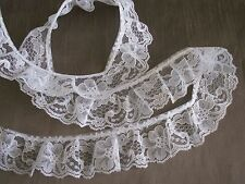 LACE, Ruffled Lace Trim, Assorted Colors, 2 Inches Wide, 5 YARDS, Raschel Lace