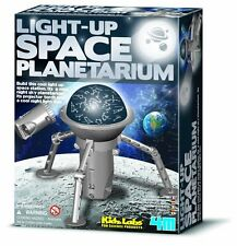 4M Kidz Labs - LIGHT-UP SPACE PLANETARIUM - Build Own Space Station NIGHT LIGHT