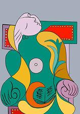 Picasso # 08 cm50x70 Poster Stampa su Carta Fotografica Opaca Matt, Papi Arte