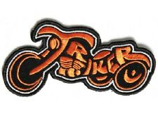 TRIKER SMALL ORANGE AND BLACK EMBROIDERED PATCH
