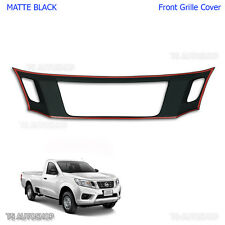 Matte Black Front Grille Cover Grill For Nissan Navara Np300 2015 2016 Truck UTE