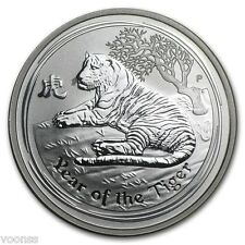 Perth Mint Australia 2010 Lunar Tiger 1/2 oz .999 Silver Coin