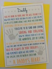 Handmade Personalised Birthday or New Dad Card: A Daddy's Heart Poem