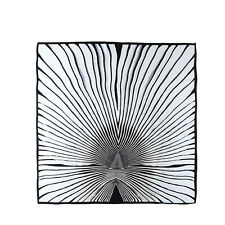 """Extra Large Silk Scarf 43""""x43"""" Black and White Striped Print DFL002"""