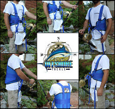 OFFSHORE STAND UP FISHING FIGHTING BELT SHOULDER & BACK HARNESS COMPLETE PACKAGE