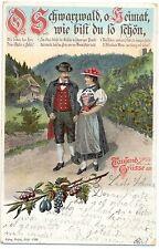 Schwarzwald, Paar in Trachtenkleidung, 1903