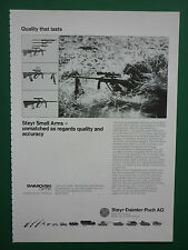 1/1986 PUB STEYR DAIMLER PUCH SWAROVSKI OPTICS RIFLE SNIPER PRECISION RIFLE AD