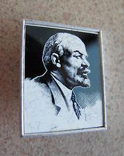Russian Soviet Political Communist Mirror Pin Blue LENIN В И Ленин