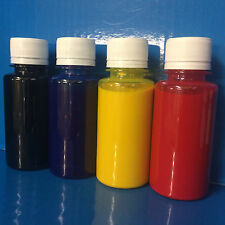 4x100ml Sample Eco Solvent ink Roland Mimaki Mutoh Epson DX5 DX6 DX7 Head No OEM