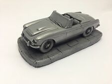 MGC Roadster Pewter Effect 1.32 Scale Model Car Made In Sheffield
