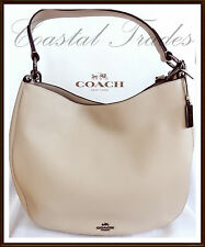 NWT $495 Coach Calf Leather Glove Tanned Nomad Hobo Shoulder Bag BEECHWOOD 2017
