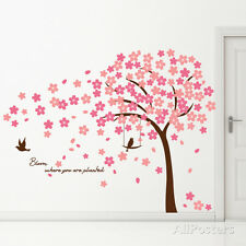 Cherry Blossom Quote Wall Decal Sticker - 121x70