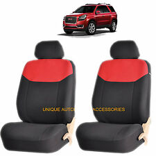 RED ELEGANT AIRBAG COMPATIBLE FRONT LOWBACK SEAT COVERSfor GMC ACADIA SIERRA
