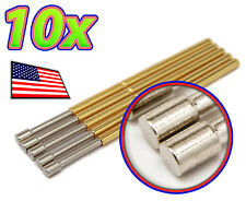 [10x] Flat Tipped Spring Loaded Pogo Pin - P160-D