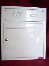 Unterputz Briefkastenanlage Mauer Briefkasten weiß 1 Klingel Wandeinbau UPH07