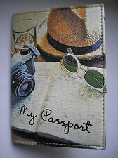 PASSPORT Cover Case Travel Wallet - I LOVE TRAVEL - Faux leather  NEW