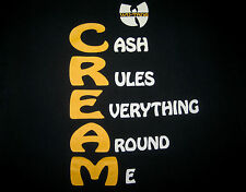 Original 1993 WU TANG Clan CREAM vtg Enter the 36 chambers 90s hip hop T-shirt