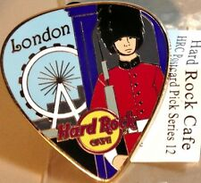Hard Rock Cafe LONDON 2012 POSTCARD Series Guitar Pick PIN Post Card HRC #68186