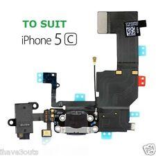 iPhone 5C Data Charger Dock Audio Jack Headphone Charging Port Flex Part Black