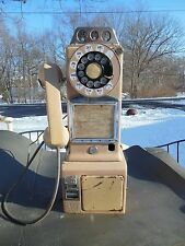 Orig Vintage ROTARY DIAL BEIGE PAY PHONE TELEPHONE