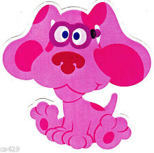 "4.5"" BLUES CLUES  MAGENTA WALL SAFE STICKER CHARACTER BORDER CUTOUT"