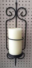 Iron Candle Wall Sconce Holder Black Sconces 2 Set Decor Metal Pair Hanging Home